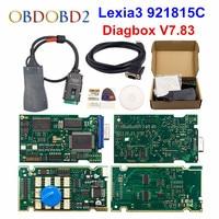 Golden Lexia 3 Full Chip Lexia3 Diagbox V7.83 PP2000 V48/V25 Lexia 3 Firmware 921815C For Peugeot/Citroen Auto Diagnostic Tool