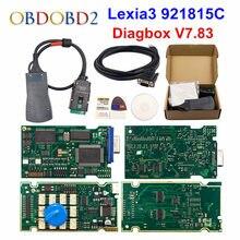 V9.68 lexia 3 completo chip lexia3 diagbox v7.83 pp2000 v48/v25 Lexia-3 firmware 921815c para peugeot/citroen ferramenta de diagnóstico automático