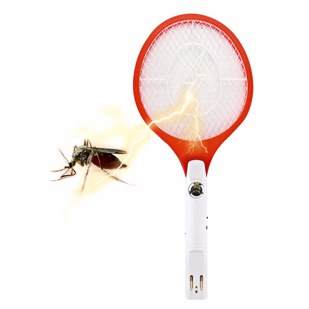 2018 Rechargeable Electric Insect Bug Bat Wasp Mosquito Zapper