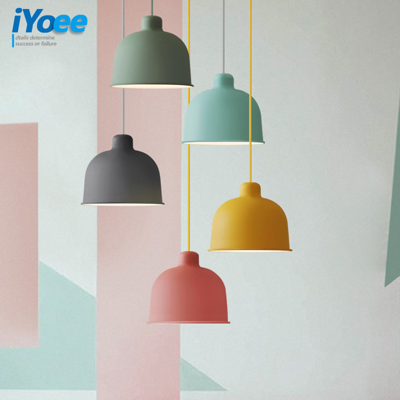 Pendant Lights Dining Room Pendant Lamps Modern Colorful Restaurant Coffee Bedroom Lighting Iron Pendant Lamp For Home Lighting modern simple european style dining room lighting american hollow carved iron bedroom pendant lights