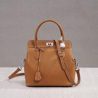 Camelia Shoulder Bag Genuine Cow Leather Celebrity Bag