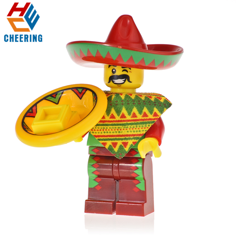 KF723 Single Sale Building Blocks Mexican Independence Day Charro Mariachi Figures Bricks Education For Children Toys