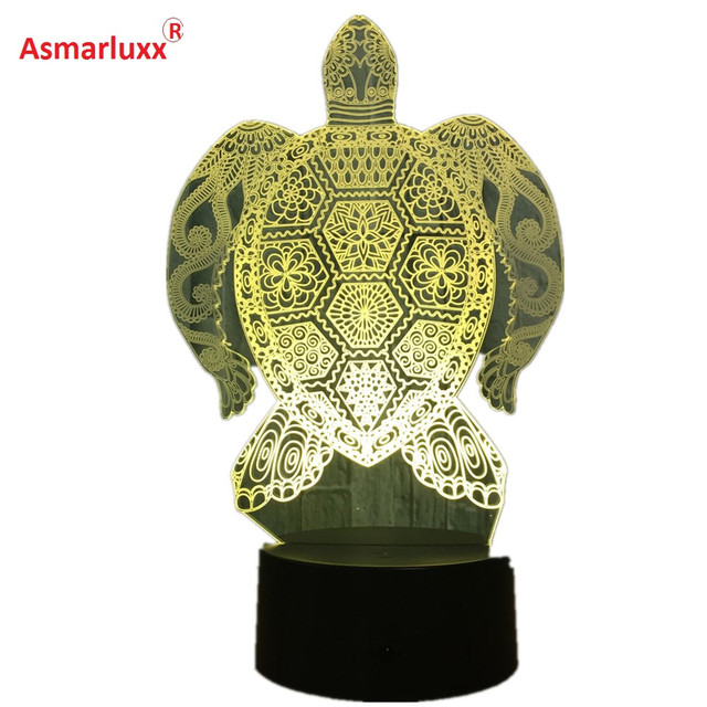 Sea Turtles 3d Led Lamp Touch Light Colorful Animal Lamp Birthday