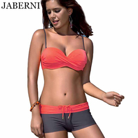 JABERNI Bikini Set Women Push Up Swimsuit Female Plus Size Swimwear Bandeau Patchwork Swimsuit Bathing Suit