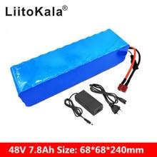LiitoKala 48V 7.8ah 13s3p высокой мощности 18650 Электрический аккумулятор для мотоцикла, электрокара батарея DIY зарядное устройство BMS защита + 2A