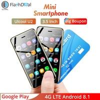 2019 Mini mobile phone U2 Android 8.1 Google Play 3.15Inch Screen MTK6739 1GB 8GB 5MP 4G Smart phone