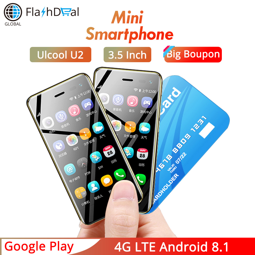 2019 Mini téléphone portable U2 Android 8.1 Google Play 3.15 pouces écran MTK6739 1 GB 8 GB 5MP 4G téléphone intelligent