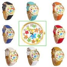 SmileOMG Women Geneva Rose Flower Digital Dial Fashion Electronic Belt Watch ,Aug 24