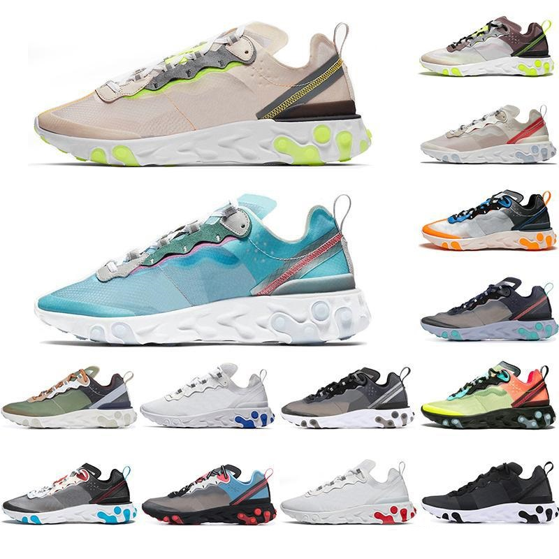 2019 Epic React element 87 undercover Outdoor shoes men women Royal Tint Sail VOLT RACER PINK black trainers sports sneakers
