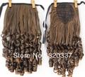 Модные ленты хвост зажим для волос в хвост вьющиеся конский хвост наращивание волос для женщин # 2/30 светло-коричневый