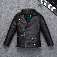 Fashion Quality Soft Breathable Leather Boys Jacket for Autumn Spring Kids Warm Coat Bicycle Bomber kids jacket girls coat