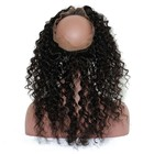Deep Wave 360 Lace Frontal Closure Pre Plucked With Baby Hair Brazilian Lace Frontal 360 Closure Remy Ever Beauty Hair