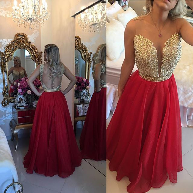 Popular Red Gold Bridesmaid Dresses-Buy Cheap Red Gold ...