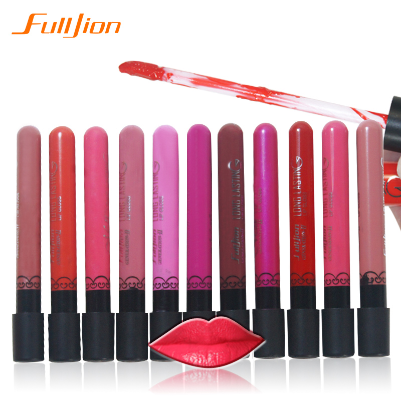 pro Waterproof Elegant Daily Color Lipstick matte smooth lip stick lipgloss Long Lasting Sweet girl Lip beauty for Makeup