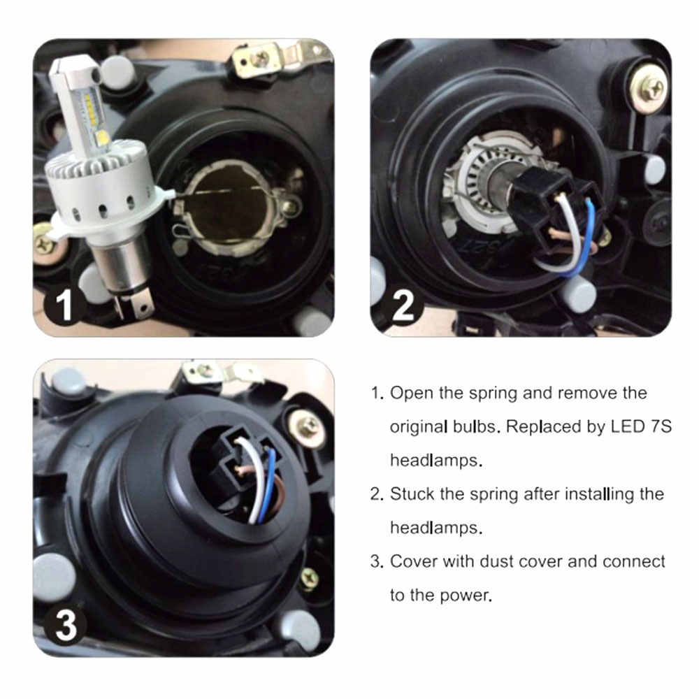 Car Bulb H7 H1 H4 LED Headlight Lamp 9012 9005 9006 Auto Lights Headlamp High Low Beam 9600LM Ultra Bright Automobile LED Bulbs