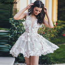 Prom-Dress Uniors Short A-Line Sleeveless Tulle Flowers