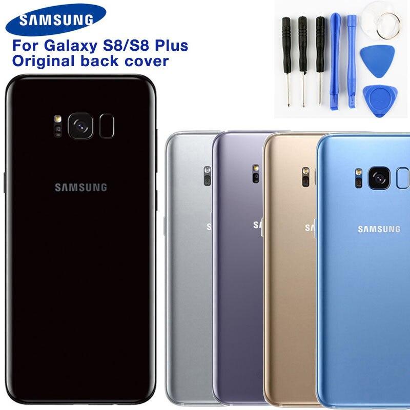 Samsung original voltar bateria porta de vidro caso capa para samsung galaxy s8 g9500 s8 + SM-G955 s8plus traseira do telefone capa