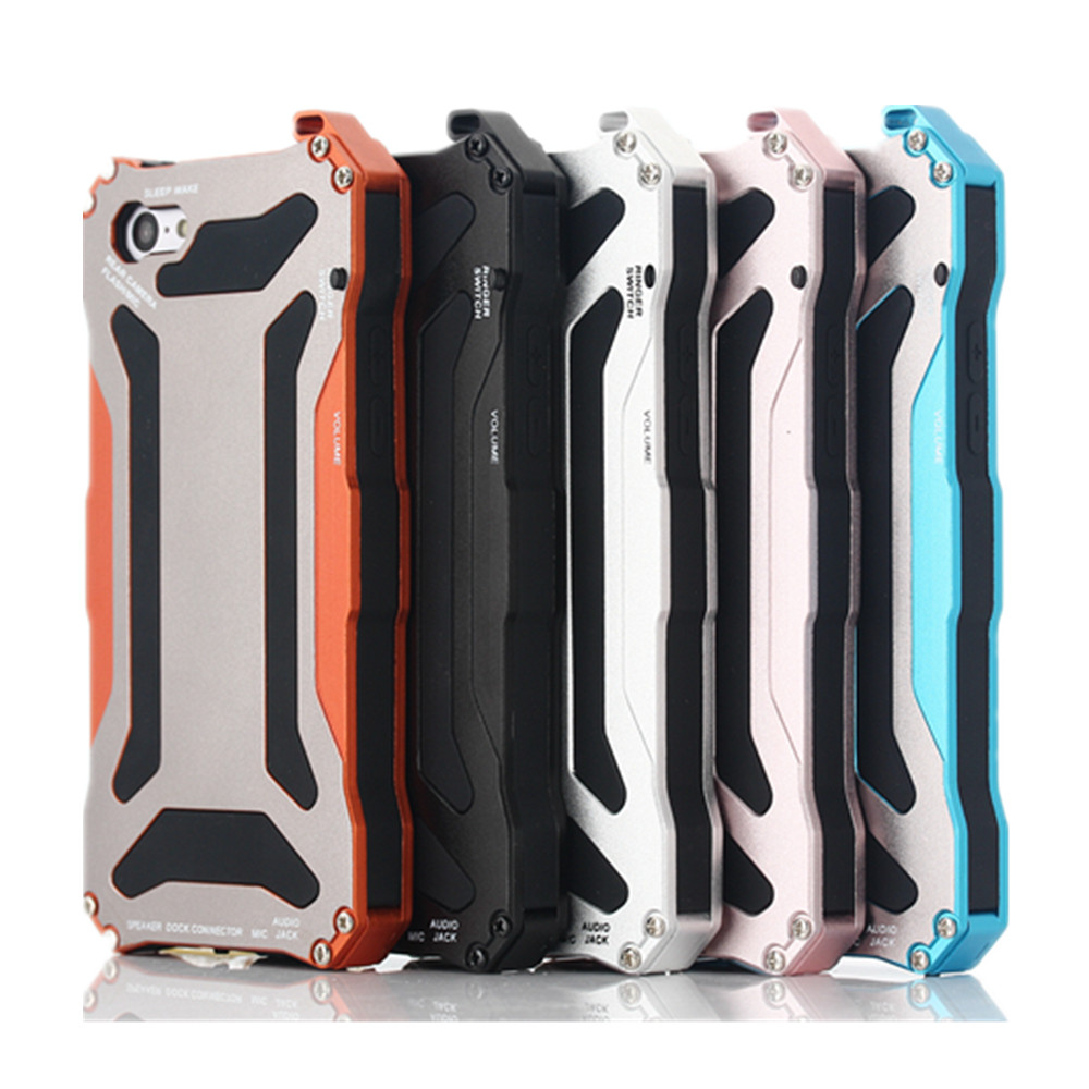 Luxury Gundam Waterproof Shockproof Metal Aluminum Armor Hard Case For iPhone 5C Cover Mobile Phone Cases
