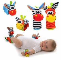 Cartoon Baby Spielzeug 0-12 Monate Weiche Tier Baby Rasseln Kinder Infant Neugeborenen Plüsch Socke Baby Spielzeug Handgelenk Gurt baby Fuß Socken