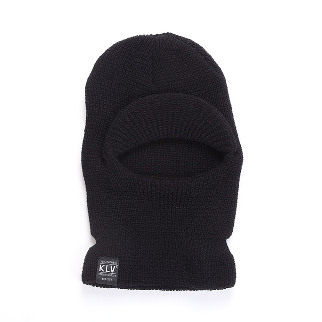 Full Face Cover 3 Holes Balaclava Knit Hat Winter Stretch Snow Mask Beanie Hat Cap Windproof Warm Breathable Masks for Riding 2