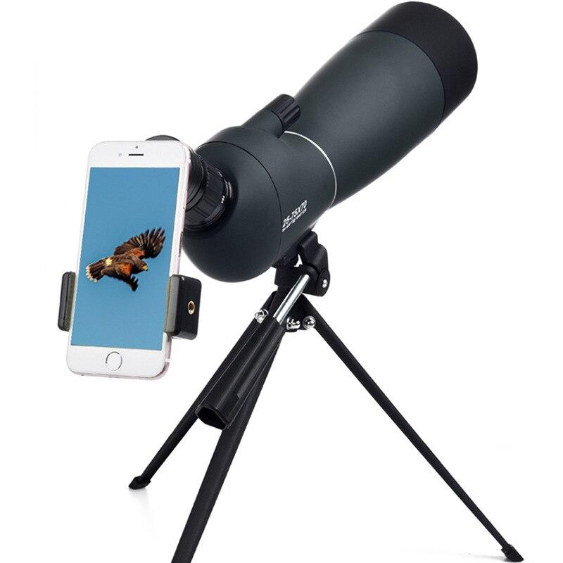Télescope monoculaire d'observation des oiseaux Zoom monoculaire 25-75x70 lunettes d'extérieur haute définition à Vision nocturne basse luminosité avec Clip