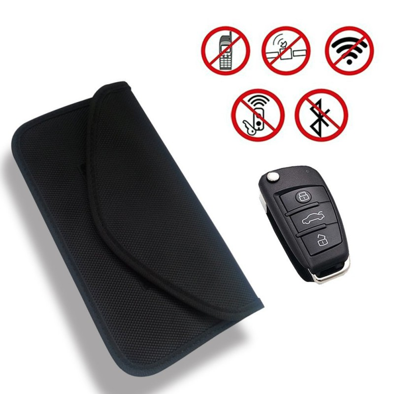 Electromagnetic Shielding Key Bags Car Key Case Shielding Blocking Cover Multi-Function Remote Control Key Bag