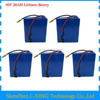 5PCS WHOLESALE 36V 1000W Lithium Battery 36V 20AH Electric Bike Battery For 36V 1000W 500W 8fun