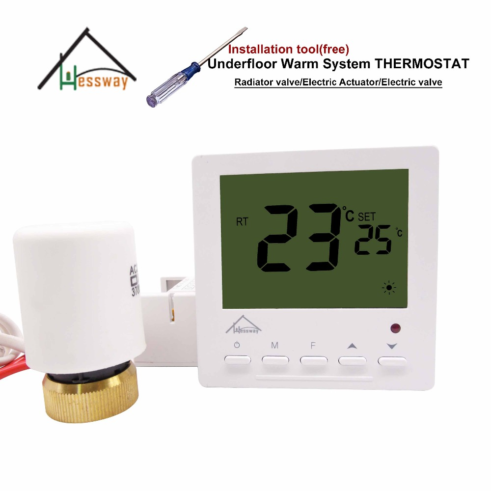HESSWAY hide water Thermal Electric Actuator Thermostat for Warm Floor