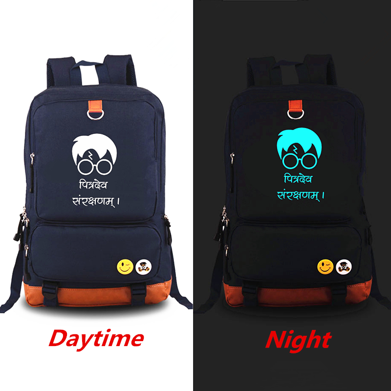 Fashion Harry Potter Luminous Backpack Students School Bags Book Bag Shoulder Bag Backpacks mochila Travel Bag for teenagers