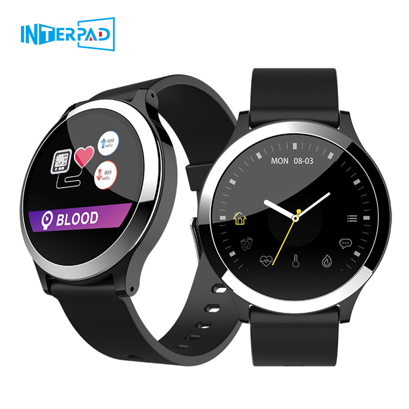 Interpad Android iOS Smart Watch Support ECG PPG Blood Pressure Heart Rate Monitor Smartwatch For Huawei Lenovo Xiaomi PhoneInterpad Android iOS Smart Watch Support ECG PPG Blood Pressure Heart Rate Monitor Smartwatch For Huawei Lenovo Xiaomi Phone