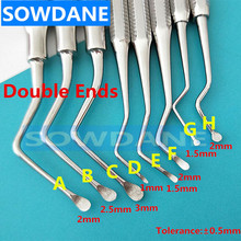 Dental Implant Excavator Spoon Restorative Tooth Extraction Dental Implant Instruments Double Ends