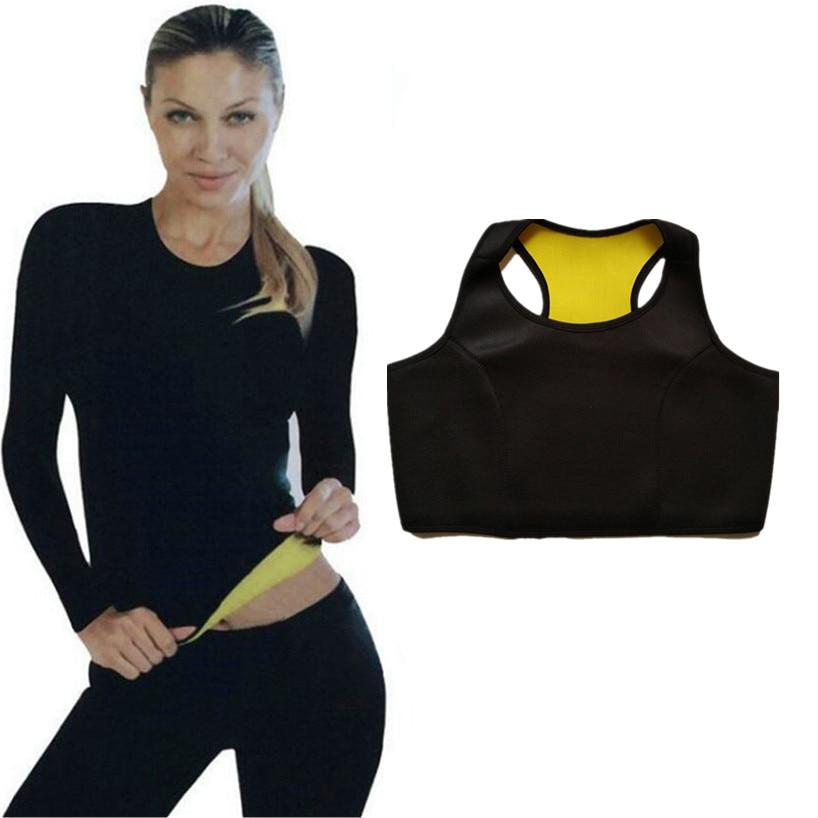 ab8fdade1e4d6 Hot Thermo Sweat Shapers Slimming Shirt Sauna Waist Weight Loss Waist-Trimmer  Slim Long Shirt Women s Compression Slim Vest Bra