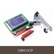 Venda quente Impressora 3D Kit Smart Parts RAMPS 1.4 Painel de Controle do Controlador LCD 12864 Exibição Motherboard Monitor de Módulo de Tela Azul