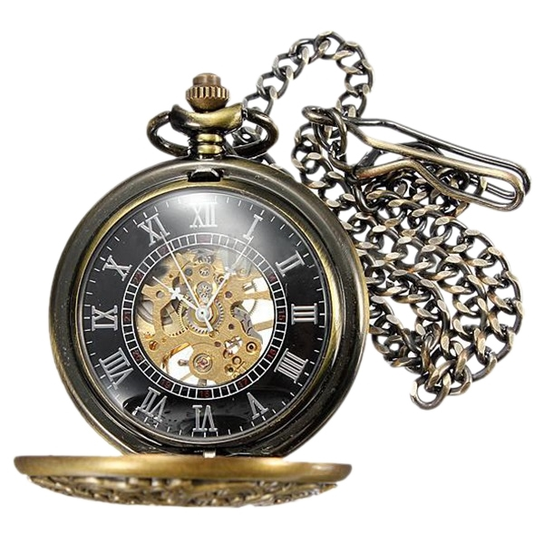 Pocket Watches Pocket Skeleton Mechanical Movement Pocket Watch Unisex
