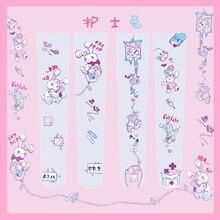 간호사 토끼 여자 로리타 오버 무릎 스타킹 벨벳 허벅지 높은 롱 스타킹 코스프레 좋은 Qaulity 일본 여자