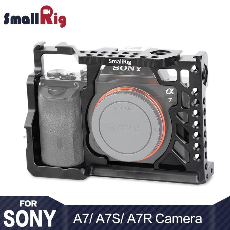 SmallRig A7 Serie Camera Kooi Voor Sony A7/A7R/A7S Vorm montage A7 Mobiele Met Arri Rozet Mount 1/4 3/8 Draad Gaten 1815-in Camerakooi van Consumentenelektronica op  Groep 1