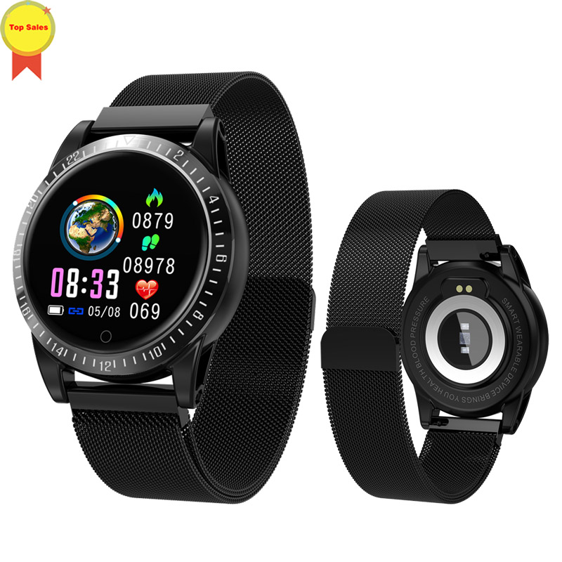 Bracelet intelligent moniteur de pression artérielle fréquence cardiaque montre intelligente Mp3 bracelet intelligent tracker de fitness pour huawei ios PK mi bande 4