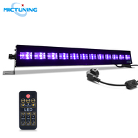 MICTUNING 36W Dimmable Glow Stage Light Bar LED UV Black Light Lamp for UV Body Paint show Holiday Disco Party Poster Decoration