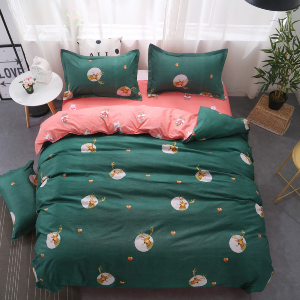 Drop Shipping Bedding Sets Duvet Cover3/4pcs Cartoon Fashion Bed sheets Single Twin Full Queen Sizes Gife DeerDrop Shipping Bedding Sets Duvet Cover3/4pcs Cartoon Fashion Bed sheets Single Twin Full Queen Sizes Gife Deer