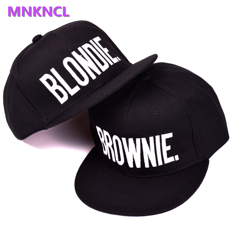 BLONDIE BROWNIE Letter Embroidery Baseball Cap Flat Bill Men Women Acrylic Gifts Hip Hop Hat For Him Her Trucker Snapback Hats blondie – pollinator 2 lp