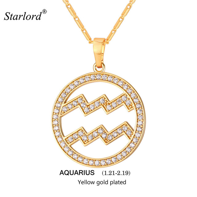 necklace products nem store gold zodiac fashion aquarius