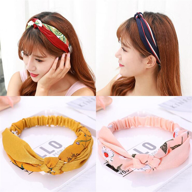 Hot Sale 2019 New Fashion Women Girls Knotted Turban Headband Hair Head  Bands Wrap Accessories For Women Scrunchy Hairband Tiara e04b5090963