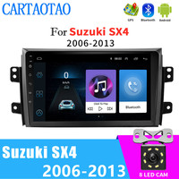 2.5 HD 9 inch touch screen car radio player 2DIN Android car radio Android navigation multimedia player For Suzuki SX4 2006 2013