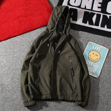 New Fashion Casual Sportswear Jacket Men Spring Hooded Zippers Thin Jackets Army Green Male Coats Slim Fit Male Windbreaker(China)