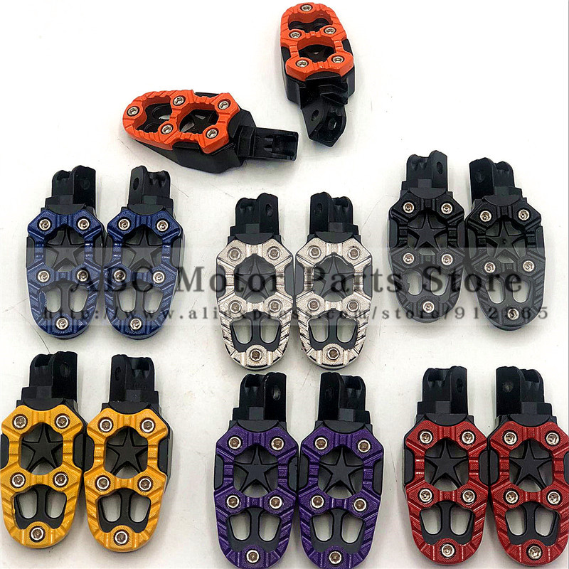 Motorcycle Foot Rest Offroad Motorbike Motorcross Foot Pegs Pedals Aluminum Alloy For Modification Cool Style Good Quality