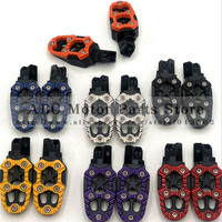 Motorcycle Foot Rest Offroad Motorbike Motorcross Foot Pegs Pedals Aluminum Alloy For Modification Cool Style Good Quality|Foot Rests|   -