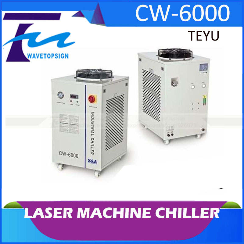laser machine chiller cw-6000 cw6000 teyu brand hot sell high quality cw3000 water chiller cooling laser tube for laser machine