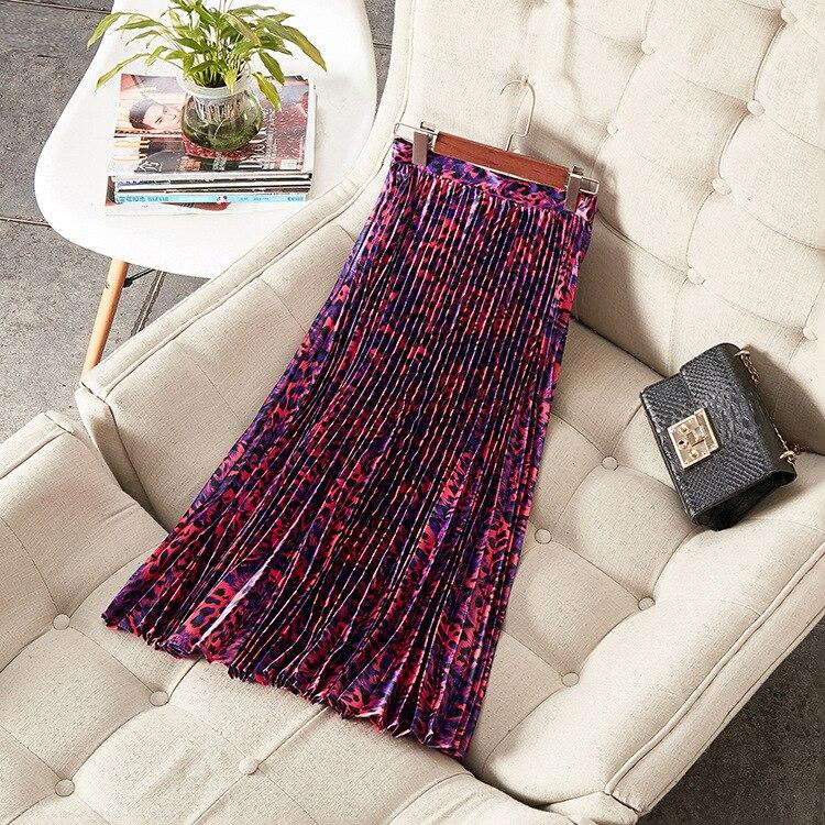 Летняя женская модная плиссированная юбка с принтом A086 - 3