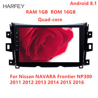 Harfey 10.1 inch AUX Multimedia Player Android 8.1 GPS Stereo Car Radio For Nissan NAVARA Frontier NP300 2011 2012 2013 2016