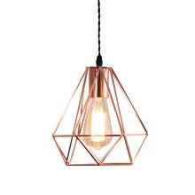 Modern E27 metal cage pendant lamp vintage color rose gold birdcage creative hanging for restaurant living room